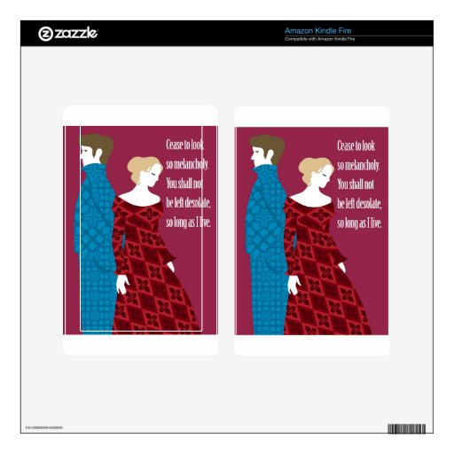 "Charlotte Bronte ""Jane Eyre"" gift with quote Skin For Kindle Fire"