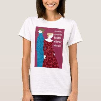 """Charlotte Bronte """"Jane Eyre"""" gift with quote T-Shirt"""