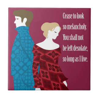 """Charlotte Bronte """"Jane Eyre"""" gift with quote Tiles"""