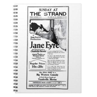 Charlotte Bronte Jane Eyre silent film 1922 ad Spiral Notebook