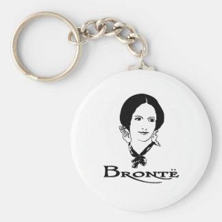 Charlotte Bronte Basic Round Button Keychain