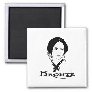 Charlotte Bronte 2 Inch Square Magnet