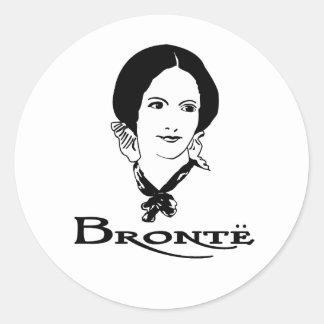 Charlotte Bronte Etiquetas Redondas