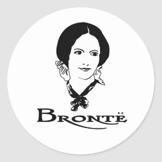 Charlotte Bronte Pegatina Redonda