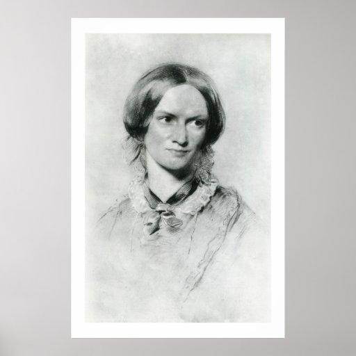 Charlotte Brontë portrait by George Richmond Posters