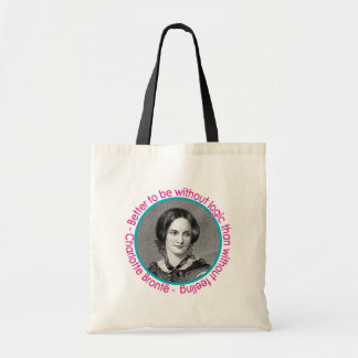 Charlotte Bronte Portrait With Quote Tote Bags