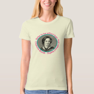 Charlotte Bronte Portrait With Quote Tee Shirt