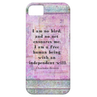 Charlotte Bronte quote about independence iPhone 5 Case