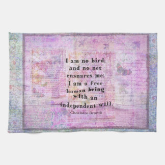 Charlotte Bronte quote about independence Towel
