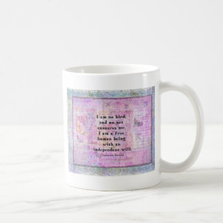 Charlotte Bronte quote about independence Classic White Coffee Mug