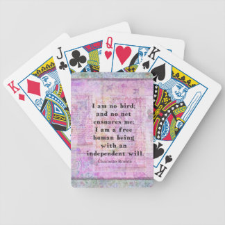 Charlotte Bronte quote about independence Deck Of Cards