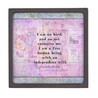 Charlotte Bronte quote about independence Premium Jewelry Boxes