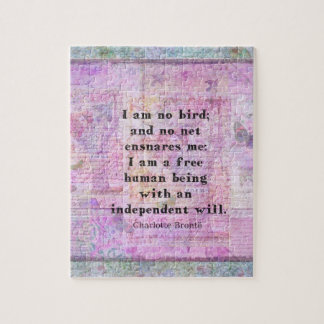 Charlotte Bronte quote about independence Jigsaw Puzzles