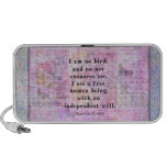 Charlotte Bronte quote about independence Mp3 Speaker