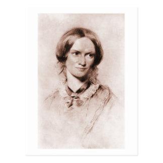 Charlotte Brontë sepia portrait by George Richmond Postcard