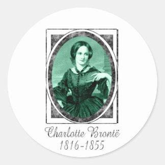 Charlotte Brontë Round Stickers