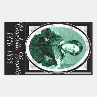 Charlotte Brontë Rectangular Stickers