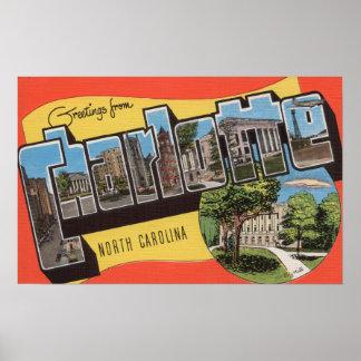 Charlotte, Carolina del Norte - escenas grandes de Poster