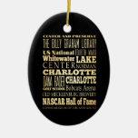 Charlotte City of North Carolina State Typography Ornaments