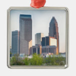 charlotte city skyline north carolina christmas tree ornament