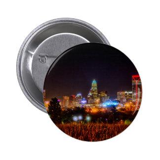 charlotte cityscape north carolina pinback button