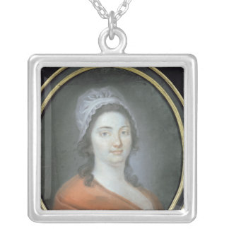Charlotte Corday  1793 Silver Plated Necklace