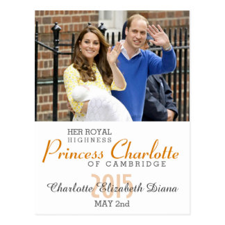 Charlotte Elizabeth Diana - Británicos quieren a Tarjeta Postal