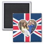Charlotte Elizabeth Diana - British Will Kate 2 Inch Square Magnet