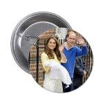 Charlotte Elizabeth Diana - British Will Kate 2 Inch Round Button
