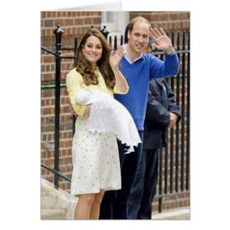 Charlotte Elizabeth Diana - British Will Kate Greeting Card