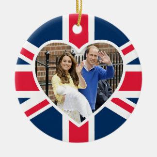 Charlotte Elizabeth Diana - British Will Kate Ceramic Ornament