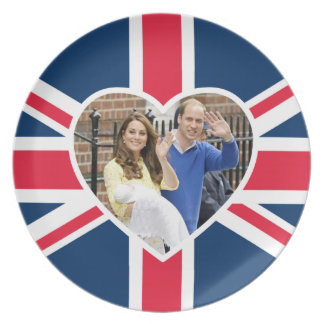Charlotte Elizabeth Diana - British Will Kate Dinner Plate