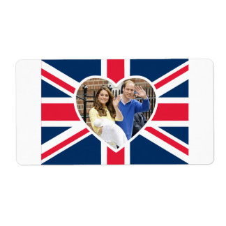 Charlotte Elizabeth Diana - British Will Kate Shipping Label