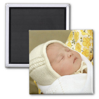 Charlotte Elizabeth Diana - British Will Kate 2 Inch Square Magnet
