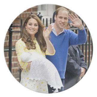 Charlotte Elizabeth Diana - British Will Kate Melamine Plate
