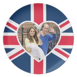 Charlotte Elizabeth Diana - British Will Kate Plates