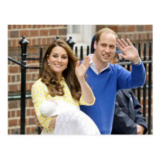 Charlotte Elizabeth Diana - British Will Kate Postcard