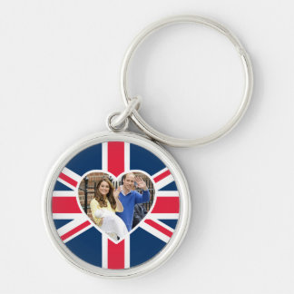 Charlotte Elizabeth Diana - British Will Kate Silver-Colored Round Keychain