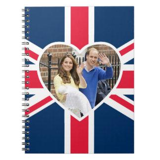 Charlotte Elizabeth Diana - British Will Kate Spiral Notebook