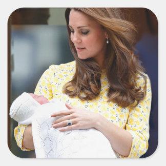 Charlotte Elizabeth Diana - British Will Kate Square Sticker