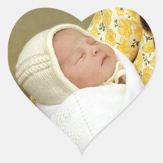 Charlotte Elizabeth Diana - British Will Kate Heart Sticker