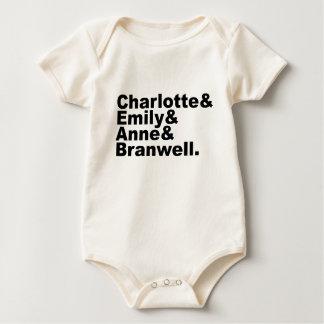 Charlotte Emily Anne Branwell | Bronte Siblings Baby Bodysuit