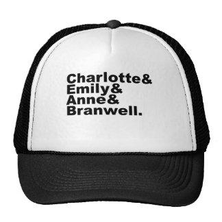 Charlotte Emily Anne Branwell | Bronte Siblings Hats