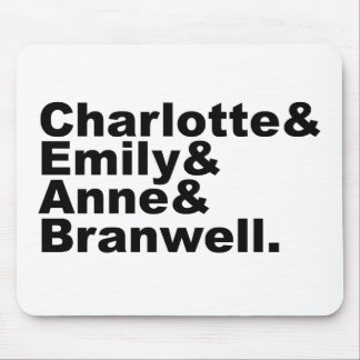 Charlotte Emily Anne Branwell | Bronte Siblings Mouse Pad