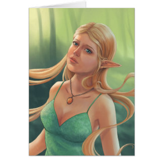 Charlotte Fantasy Elven Portrait Painting Card