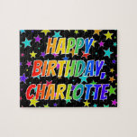 "[ Thumbnail: ""Charlotte"" First Name, Fun ""Happy Birthday"" Jigsaw Puzzle ]"