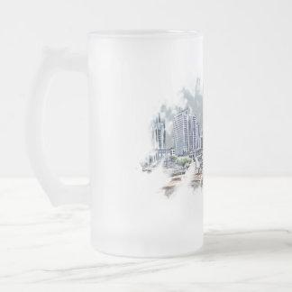 charlotte frosted glass beer mug