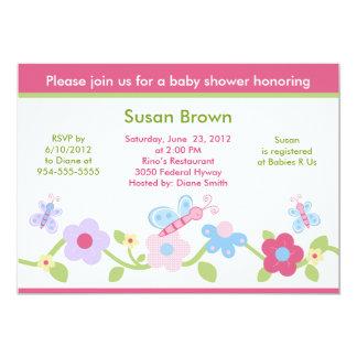 Charlotte Garden/Flowers Baby Shower Invitation