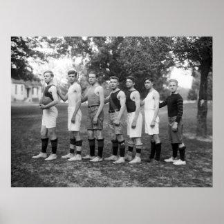 Charlotte Hall Military Academy Basketball, 1920s Print