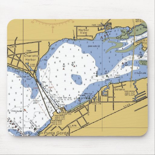 Charlotte Harbor, Florida Nautical Chart Mouse pad